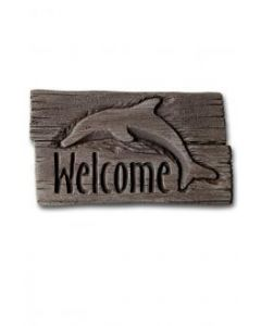 """11"""" Stone-Welcome Dolphin"""