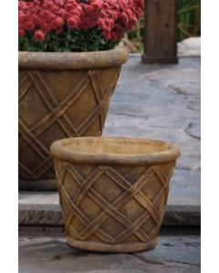 "14"" Weaved Round Planter"