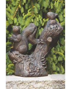 "16"" Twin Squirrels on Stump"