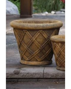 "17"" Weaved Round Planter"