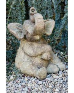 """20"""" Sitting Elephant-Plumbed"""