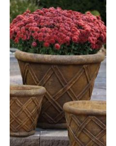 "21"" Weaved Round Planter"