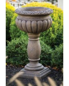 "33"" Egg Dart Urn On Pedestal"