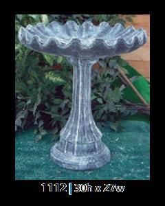 Birdbath Lamppost/Clamshell