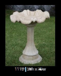 Birdbath Lamppost/Tulip