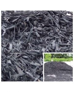 Black Wood Mulch Bag