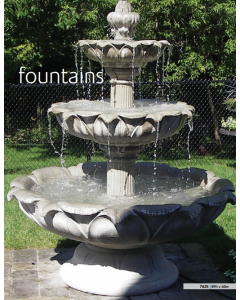 "Fountain - 3 Tiered 89""H"
