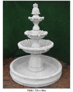 Fountain - 3 Tiered w/ Basin