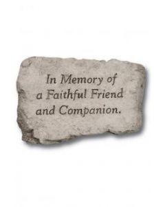 """10"""" Stone-In Memory Of a Fai"""