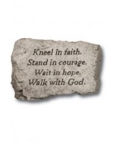 "10"" Stone-Kneel In Faith"
