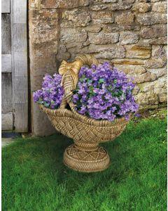 Large Pedestal Basket Planter