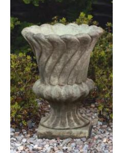 Layered Leaf Urn