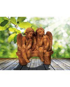 Li'l Angels Talking On Bench