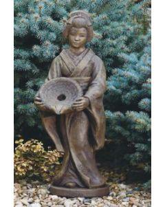 Oriental Girl with Dish Plumbe