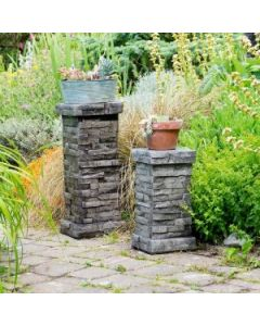 Stacked Stone Pedestal Small